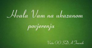 OO SDA Travnik zahvaljuje građanima na ukazanom povjerenju