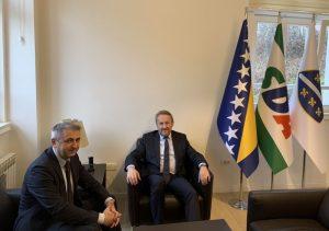 Bakir Izetbegović u posjetu primio ambasadora Republike Hrvatske