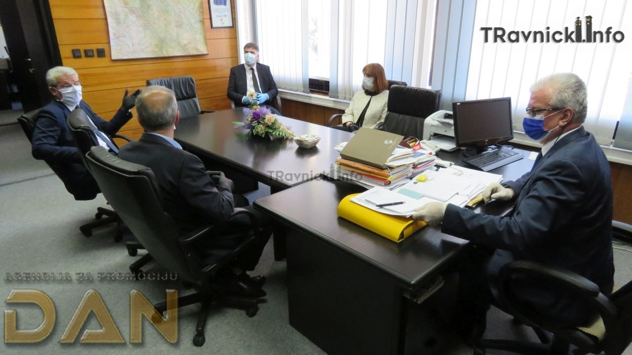 Šefik Džaferović boravio u Travniku: U SBK zbog pandemije oko 2.300 manje zaposlenih