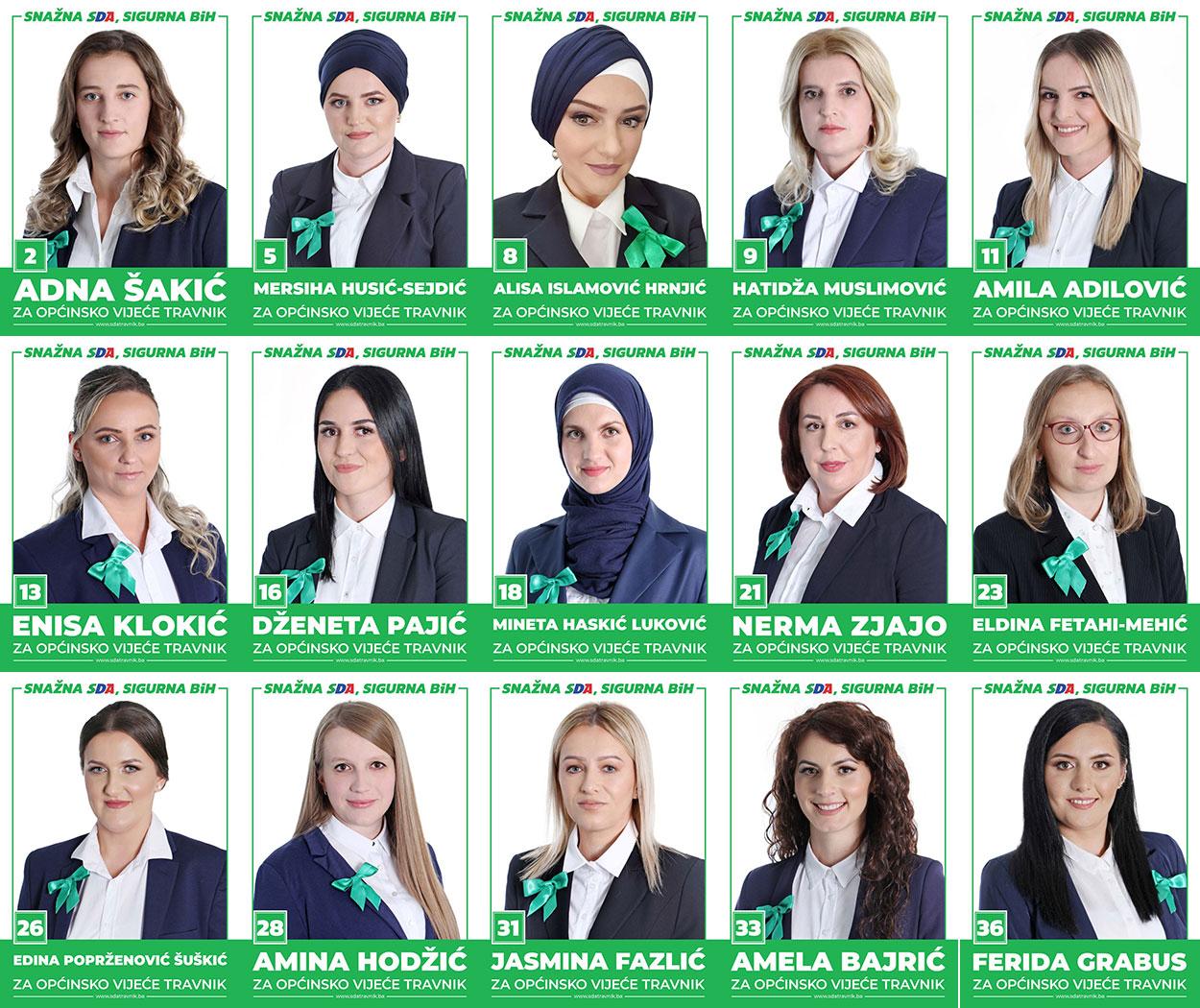 SDA podržava žene: Petnaest kandidatkinja na listi za OV Travnik