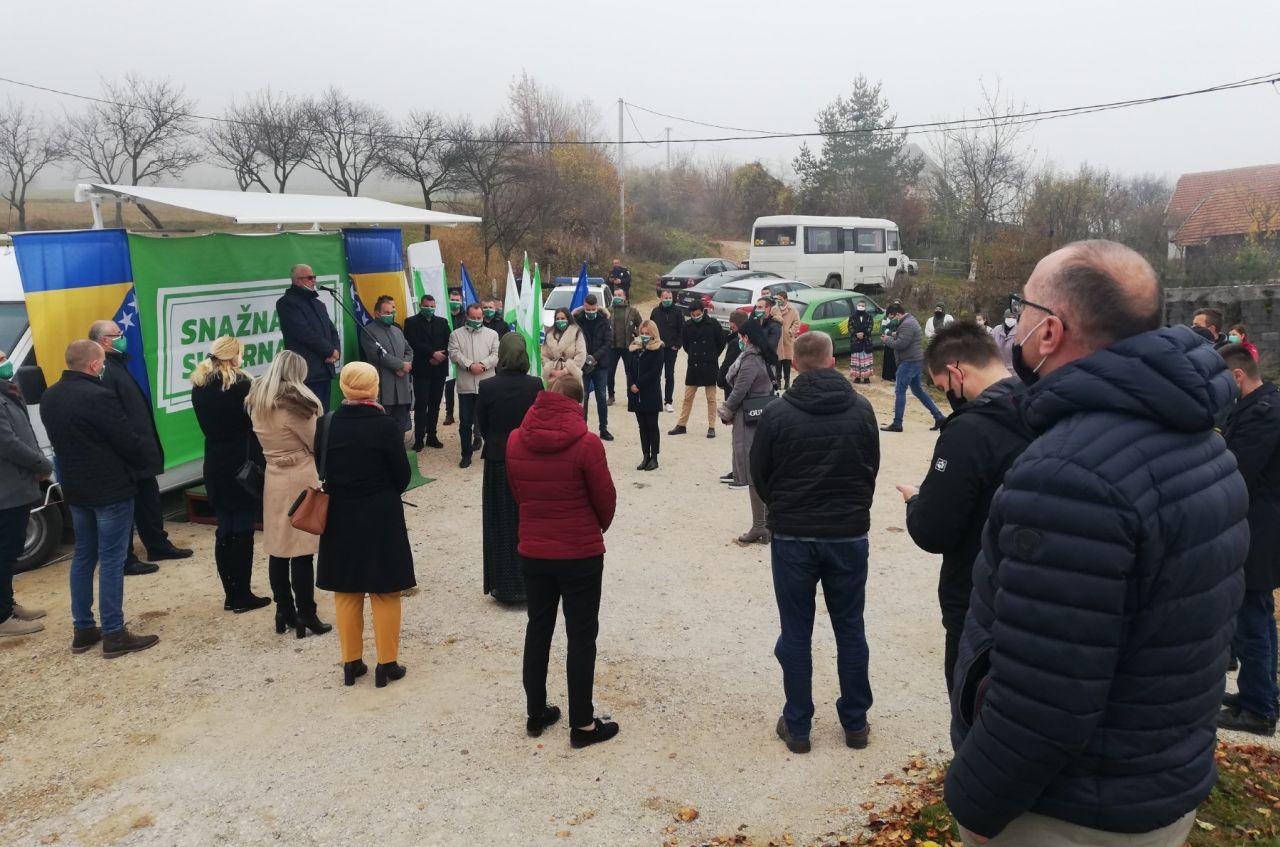 Delegacija OO SDA Travnik danas posjetila Čukle