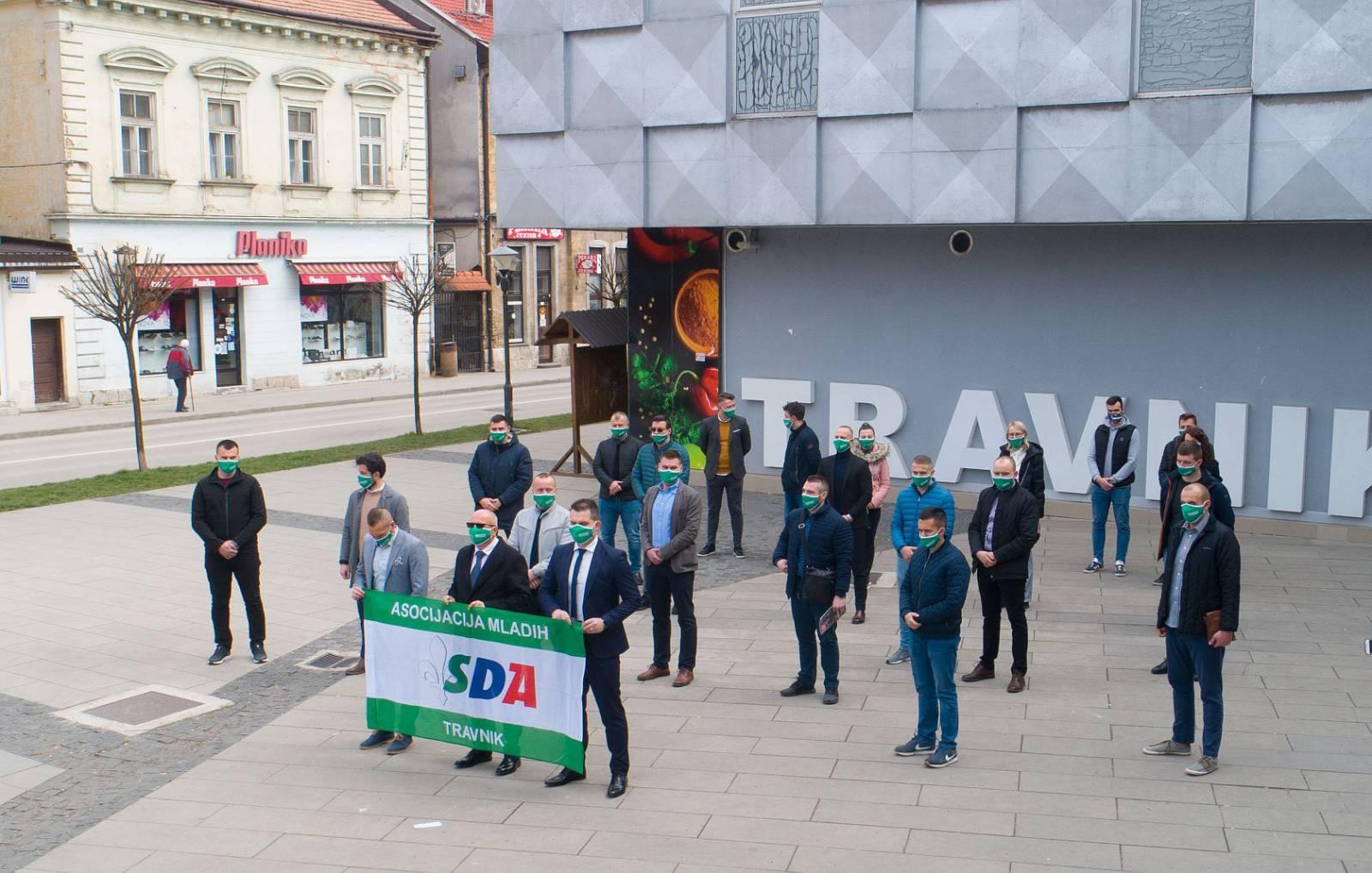 Asocijacija mladih OO SDA Travnik pružila punu podršku Kenanu Dautoviću