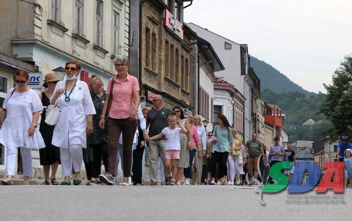 U Travniku održana Šetnja za Srebrenicu