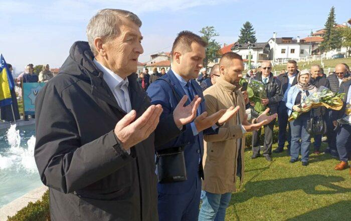 Predstavnici OO SDA Travnik danas u Sarajevu na obilježavanju godišnjice smrti Alije Izetbegovića